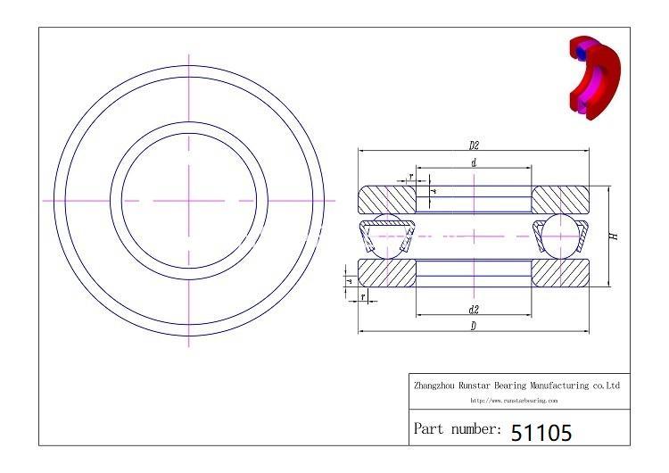 51105 thrust bearing 51105 d