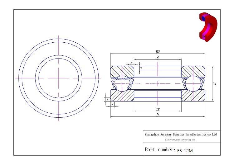 5mm thrust bearing f5 12m d 1