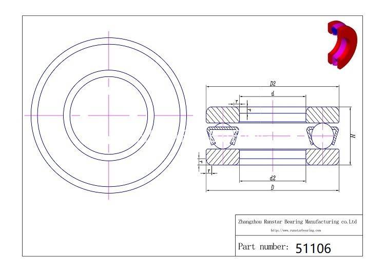 ball thrust bearing 51106 d 1