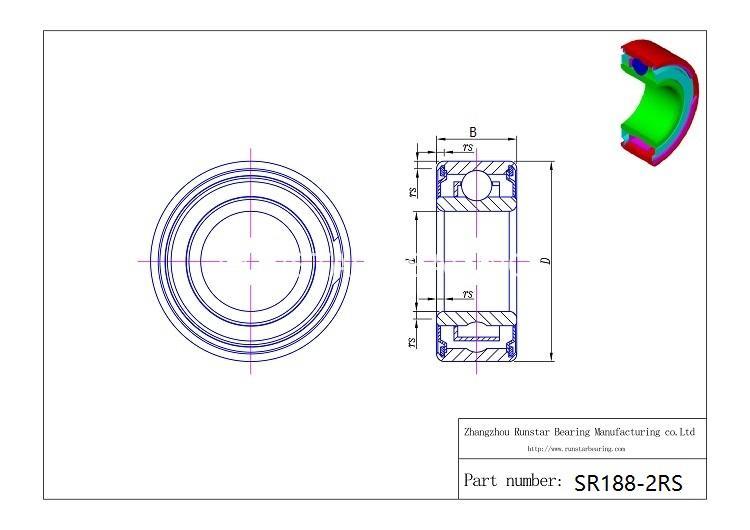 188 stainless steel ball bearings sr188 2rs d